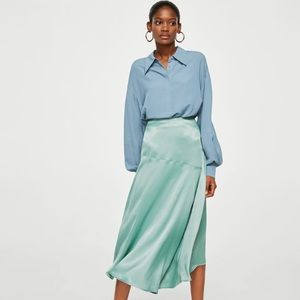 Gorgeous Seafoam Green Skirt from Mango